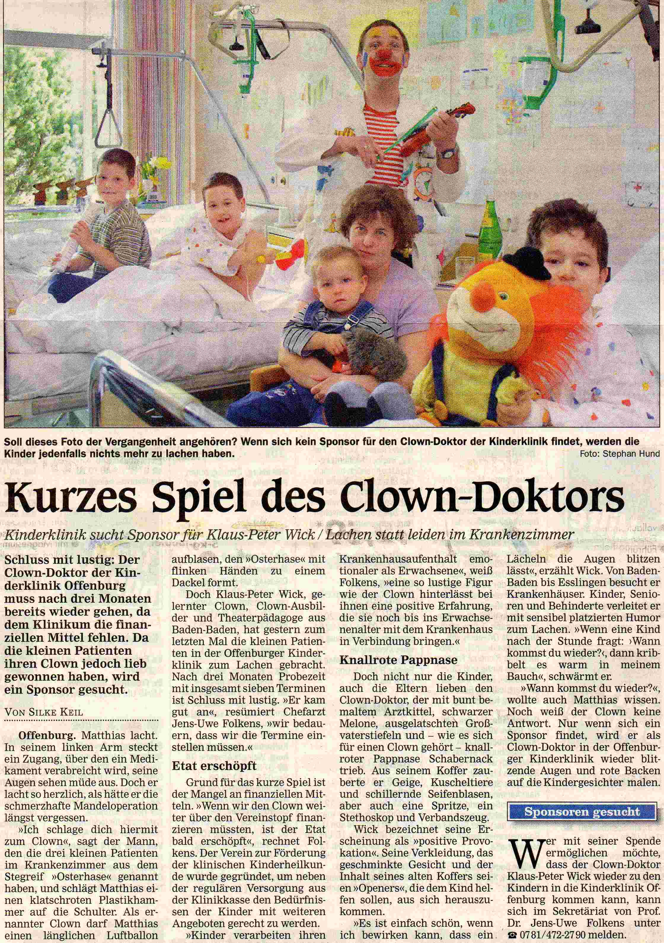 clowndoktor_offenburger_tagblatt_april_2002